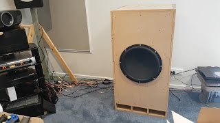 iNuke 6000DSP with Dayton Ultimax 18 subwoofer in Full MartySub Build