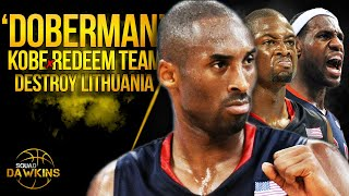 Kobe Inspires Bron, Wade x 2008 Redeem Team To Play Crazy D, They DESTROY Lithuania | SQUADawkins