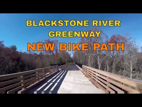 Blackstone River Greenway Bike Path ~ Blackstone to Millville Ma ~ GoPro