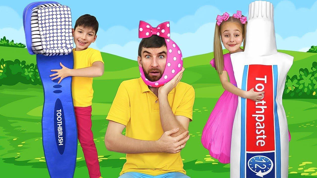 Sasha e historias divertidas sobre ir al médico y canciones infantiles sobre cepillarse los dientes