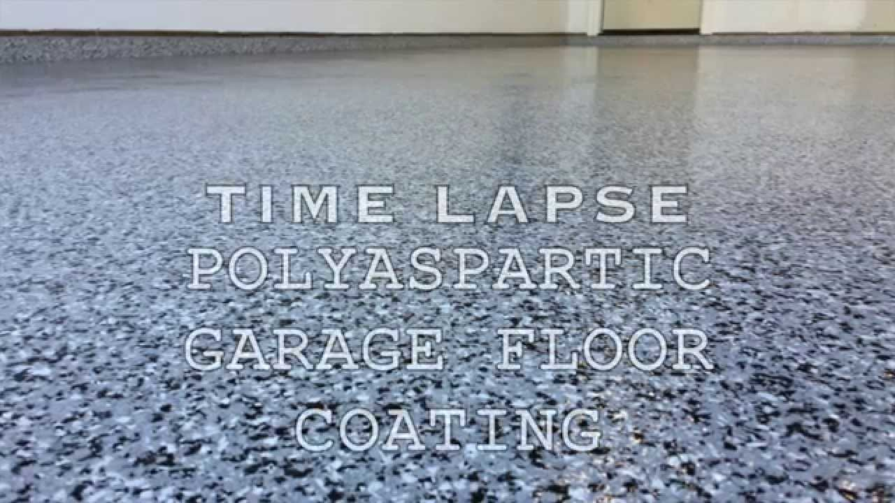 Polyaspartic Garage Floor Coating Time Lapse Youtube