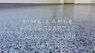 Polyaspartic Garage Floor Coating Time Lapse