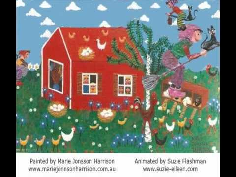 """Halloween & """"Witches from Sweden"""" by Naive Artist  Marie Jonsson-Harrison"""