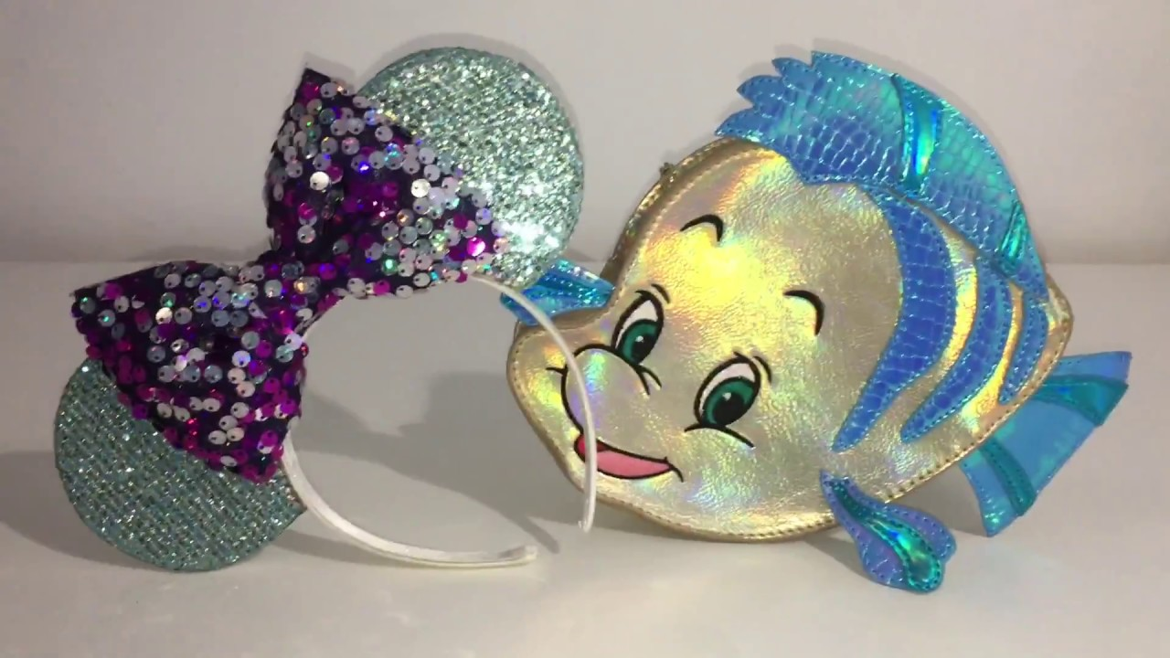 No Sew Ariel Inspired Minnie Mouse Ears Youtube
