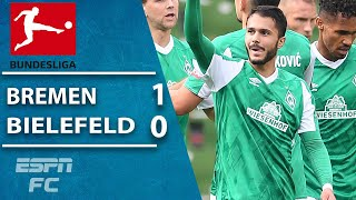 Josh sargent's werder bremen pick up their second win of the season with a 1-0 vs. newly-promoted arminia bielefeld. bremen's goal came in first half...