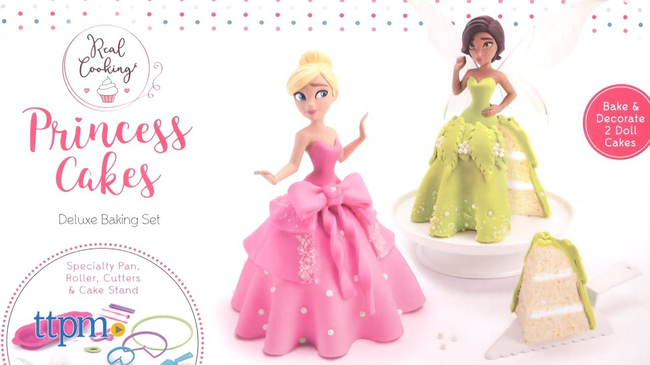 Real Cooking Princess Cakes Deluxe Baking Set from Skyrocket Toys ...