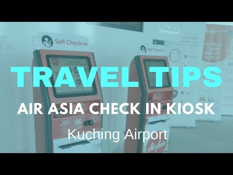 Air Asia Check in Kiosk - Kuching Airport - Malaysia