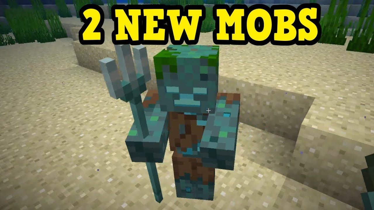 Minecraft 1 13 - TWO NEW MOBS -