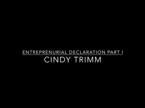 Entrepreneurial Declaration - Cindy Trimm Part I