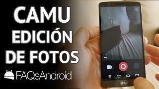 Camu: app de edición de fotos en Android