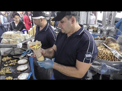 Street Food from Greece. Pita Gyros with Lamb, Pork and Chicken, Moussaka and More