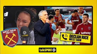 """WE WANTED TO PROVE MOURINHO WRONG!"" Declan Rice on THAT celebration & West Ham's top four hopes"