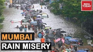 Mumbai Floods : Roads Turn Into Rivers, Huge Traffic Jams In Many Areas