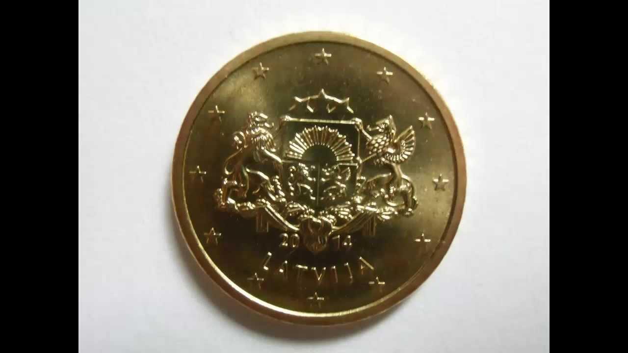 Eiro Monētas Latvija Euro Coins Latvia Euromünzen Aus Lettland
