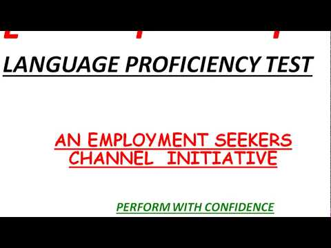 LPT IN BANKING AND INSURANCE EXAMS|LANGUAGE PROFICIENCY TEST