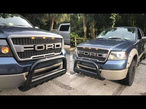 How To Install Ford Raptor Grille on a 2004-2008 F150 (HOW TO SPLICE INCLUDED!)