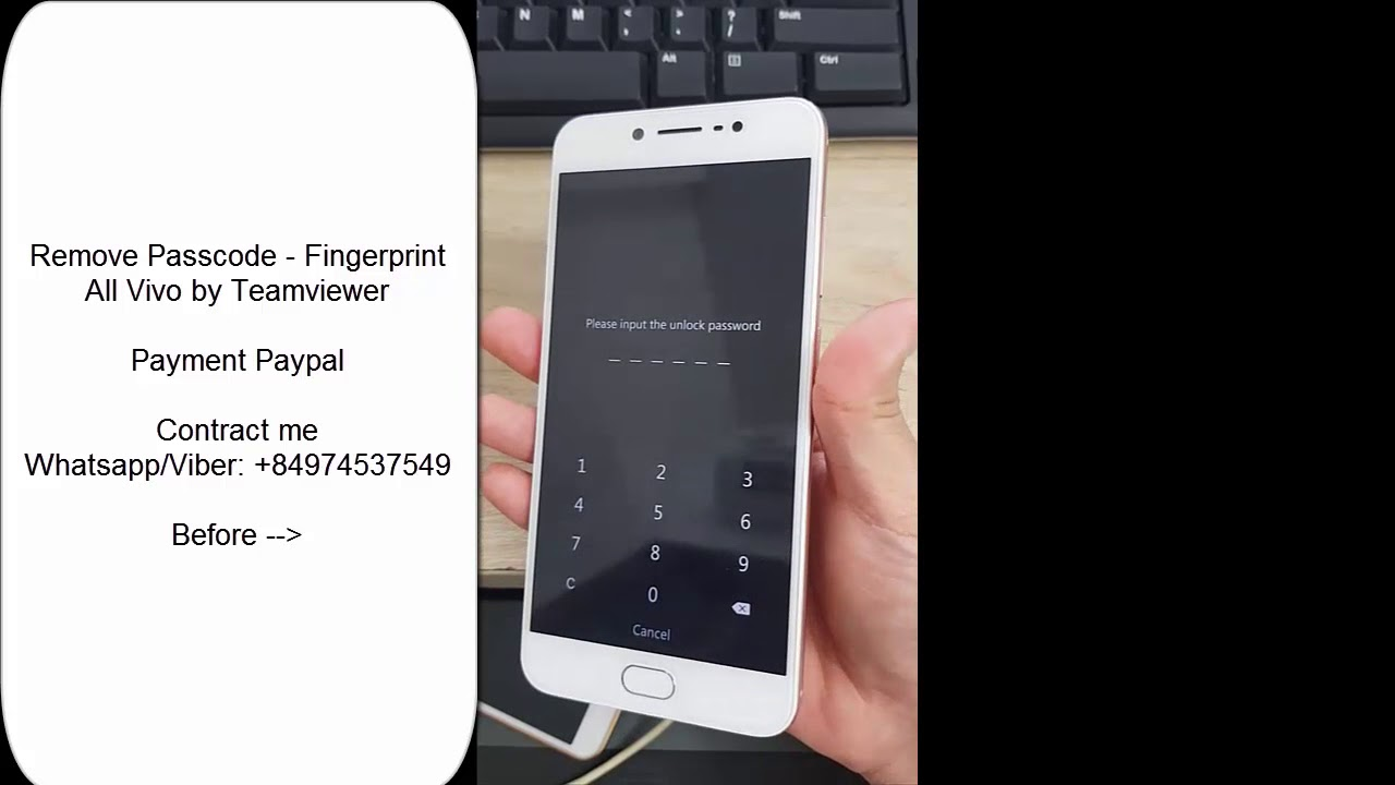 Remove Pattern Pin Password Hard Reset All Vivo V5 V3 Y31 Y55