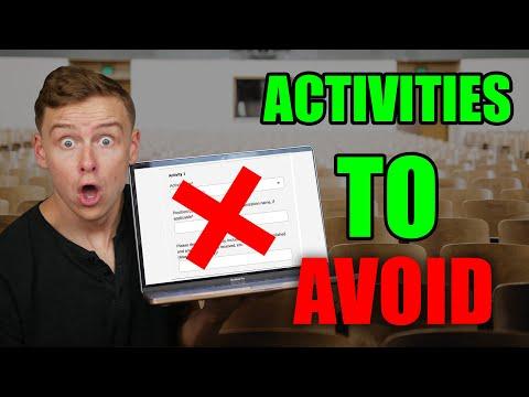 5 useless college application activities