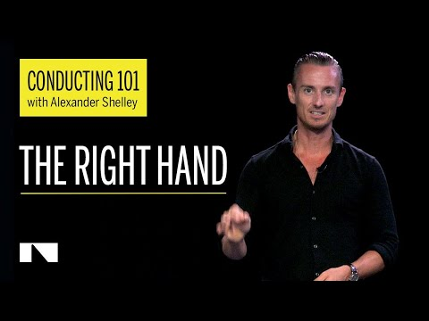 Conducting 101 with Alexander Shelley Part 2/6 (The Right Hand)