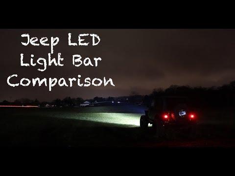 Jeep led light bar comparison youtube aloadofball Image collections