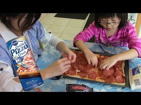Making the 'Too much pepperoni' pizza using Pillsbury Pizza Crust