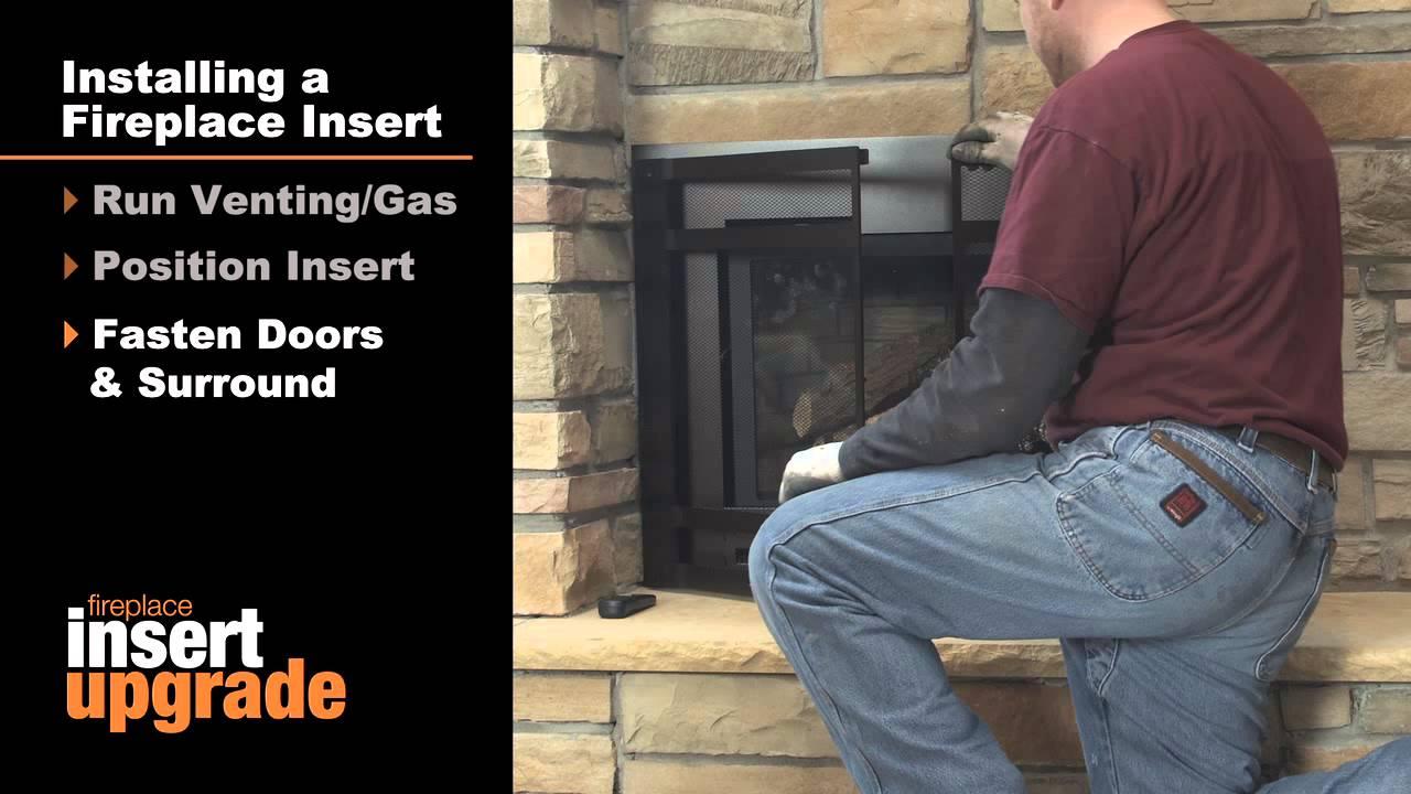 Heat & Glo Gas Fireplace Insert Installation Video - YouTube