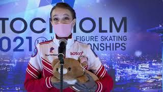 Anna Shcherbakova from Russia