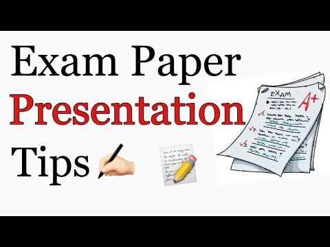 Exam Paper Presentation Tips | How to Write in Exam