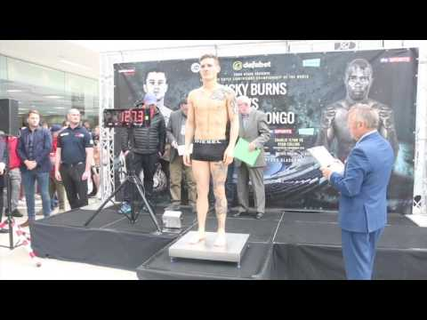 LEWIS PAULIN v LUKE FASH - OFFICIAL WEIGH IN VIDEO FROM GLASGOW / BURNS v INDONGO