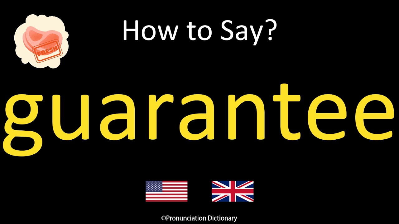 How to Pronounce guarantee  British Accent & American Accent