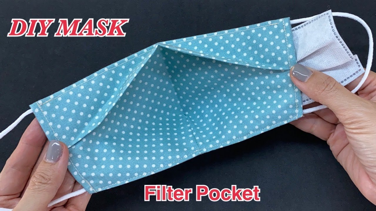 Diy Face Mask With Filter Pocket Easy To Make Sewing Tutorial | Easy Pattern 3D Mask No Fog On Glass