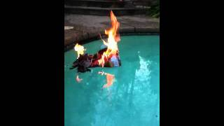 Boat Sinks By Fire
