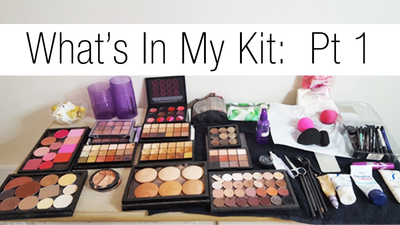 Makeup Artist Series: Updated What's In My Kit Pt 1