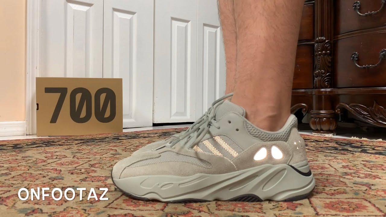 Adidas Yeezy 700 Salt On Foot - YouTube e27e0007d