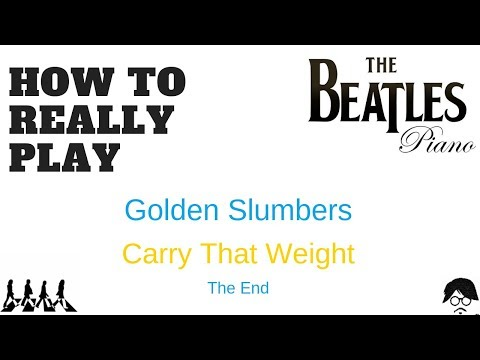Golden Slumbers Carry That Weight The End Piano Youtube