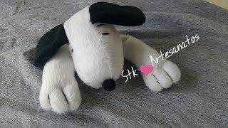Como Fazer Cachorrinho Snoopy – Para Naninha de Bebê