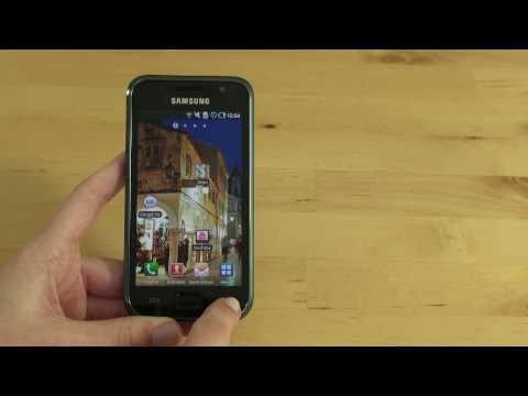 Samsung Galaxy S Test Bedienung