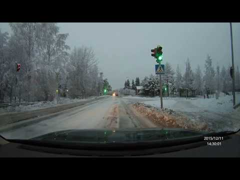 Driving in Oulu, Finland