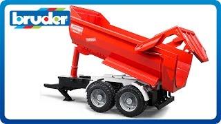 Bruder Toys Krampe tandem halfpipe tipping trailer #02225