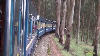 Nilagiri Mountain Railway - Train hauled by diesel engine