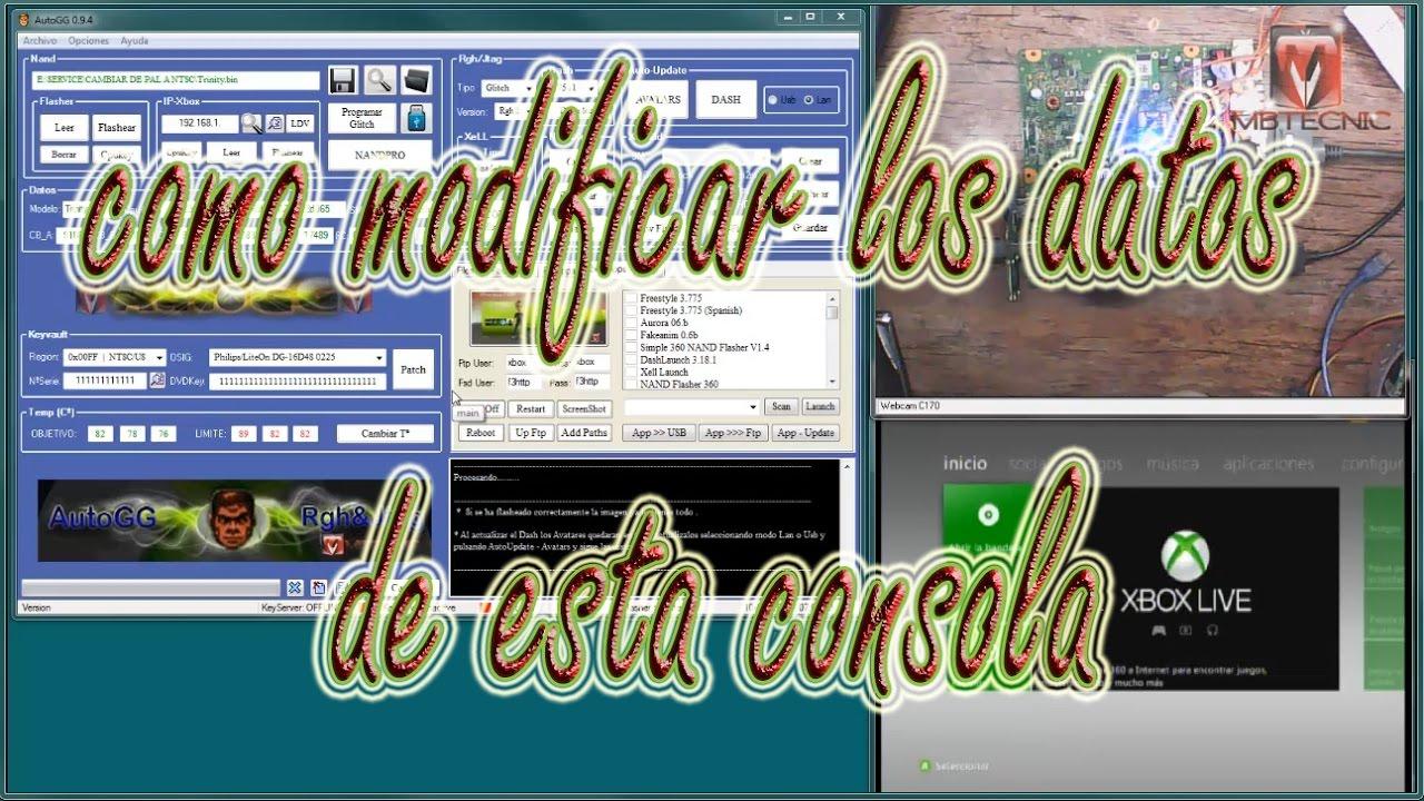 COMO MODIFICAR DATOS INTERNOS DE UNA CONOLA XBOX RGH - 37