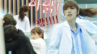 《Making Film》 Park Shin Hye amazing action & fighting scene! @The Doctors