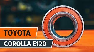 Kaip pakeisti priekinio rato guolis Toyota Corolla E120 PAMOKA | AUTODOC