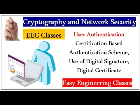 Certification Based Authentication Scheme, Use of Digital Signature
