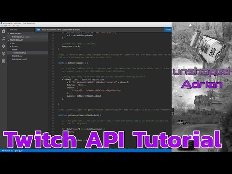 Upgrading to v5 of the Twitch kraken API Tutorial