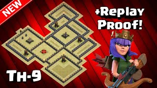 Town Hall 9 2018 WAR BASE! (ANTi- LavaLoon, GoHo, HGHB, Witch Slap, GoWiWi, GoValk) +Replay Proof!