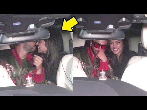 Deepika Padukone Cant Stop Blushing As Ranveer Singh Openly KISSES Her on Valentines Day
