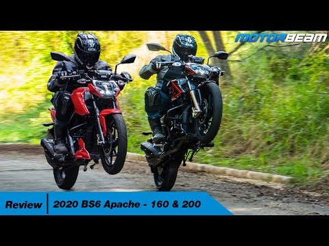 2020 TVS Apache BS6 Review - 160 & 200 Updated | MotorBeam