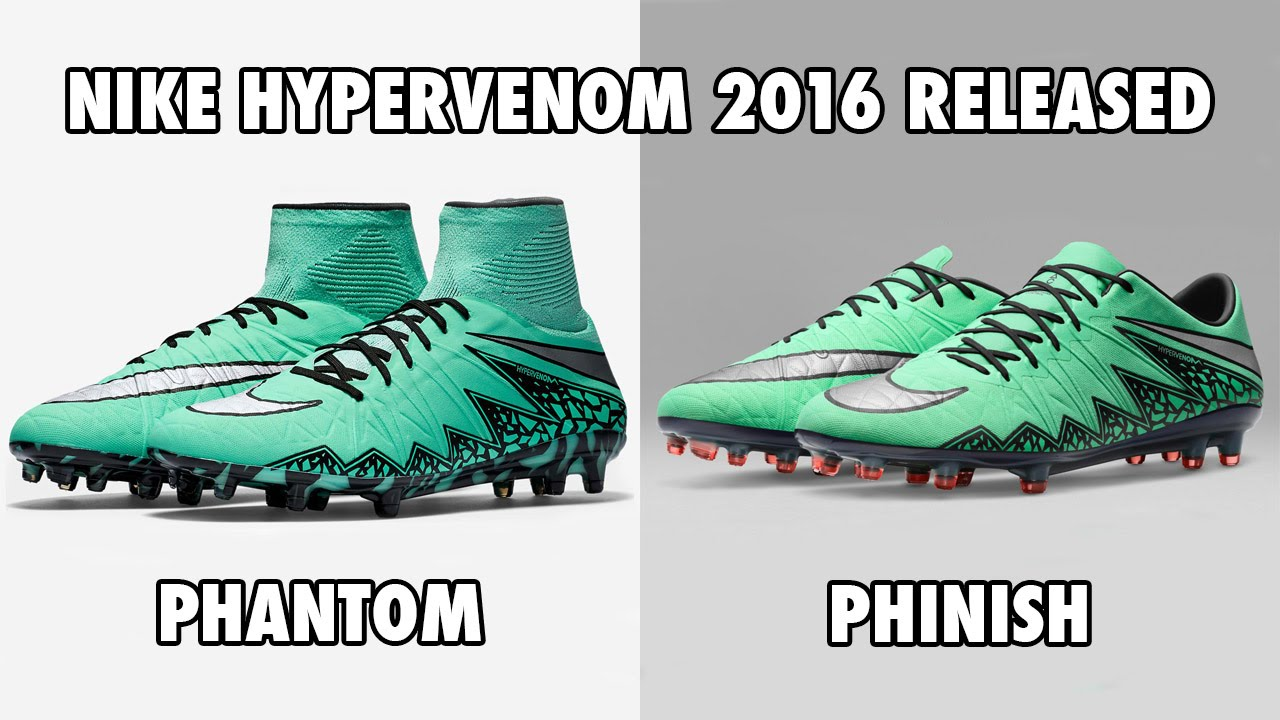 bas prix 6f80b 2663e Nike Hypervenom Phantom & Phinish 2016 Released