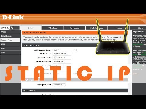 Setting Static IP on D-Link Wifi router